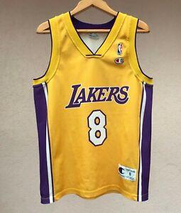 RARE LOS ANGELES LAKERS BASKETBALL SHIRT JERSEY CAMISETA BRYANT CHAMPION NBA USA
