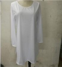Women Loose Casual Skater Swing Dress O-neck Long Sleeve Ruffle Short Mini Dress