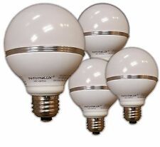 LED G25 Globe Light Bulb.   Lot of 4.  8W replaces 70W Warm. Dimmable 2700K
