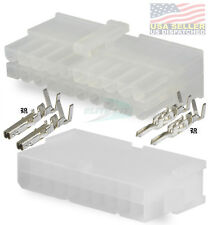 Molex 20 Pin Mini Fit Connector Complete Set With 18 24 Awg 20 Circuits