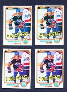 (4) Card Lot 1981-82 Topps #16 Wayne Gretzky MINT Condition HOF