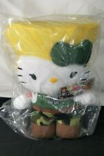 """Toynami Hello Kitty Street Fighter Guile Plush Doll 10"""" Inch"""
