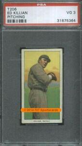 1910 T206 Ed Killian Pitch PSA 3 (5364) Piedmont 350
