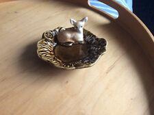 "SylvaC Pottery #4293 Woodland Fawn Dish 4.3"" X 3.8"".VGC NO BOX"