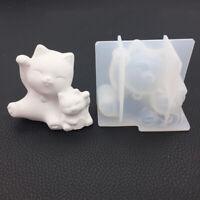 Cat Shape Resin Clay Jewelry Making Pendant Mold Fondant Cake Chocolate Mold