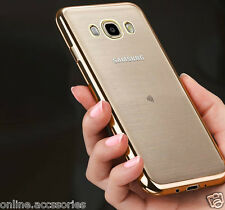 Side Gold Plated Soft Transparent Back Cover Case For Samsung Galaxy ON 8 / ON8