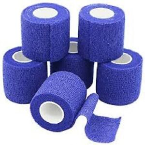 Cohesive Bandage Blue 5.0cm x 4.5M pack of 12