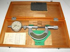"""Mitutoyo 107-101 Micrometers Range 0-25mm With Dial Indicator """"Very Good Order"""""""