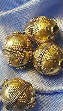 Gran granos de plata y oro Dorados X 4