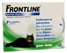FRONTLINE SPOT-ON CHAT BOITE 4 PIPETTES DE 0.5 ML PUCES & TIQUES FREE SHIPPING