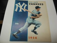 1956 NEW YORK YANKEES MLB YEARBOOK BASEBALL RARE GOOD CONDITION!