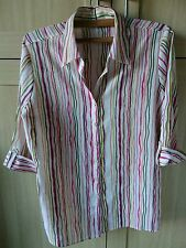 Marks and Spencer Striped Collared 3/4 Sleeve Women's Tops & Shirts