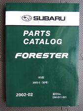 JDM SUBARU FORESTER SG Series Original Genuine Parts List Catalog