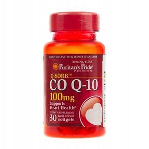 Puritan's Pride CO Q-10 100mg Supports Heart Health 30 Softgels BLITZVERSAND GLS
