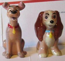"LADY AND THE TRAMP dog figure Salt amd Pepper Shakers ~3"", Disney"