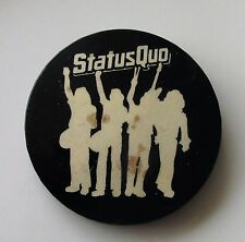 STATUS QUO HELLO LARGE METAL PIN BADGE FROM THE 1970's ORIGINAL VINTAGE ROCK