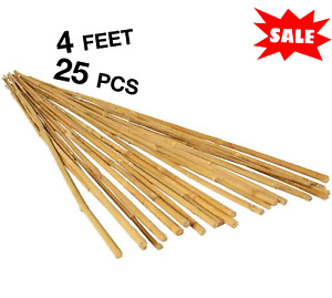 25 Bamboo Trellis Stakes 4' for Garden Plants Support Tomatoes Peas Plant Sticks