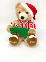 Belkie 2017 Christmas Teddy Bear Plush Holiday PJs Slippers Reading Book
