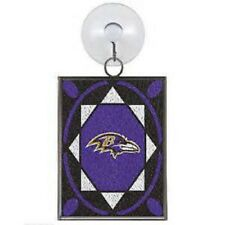 Baltimore Ravens Stained Glass Christmas Tree Ornament NEW Sun Catcher