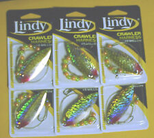 6  LINDY CRAWLER HARNESSES LSR912 #5 WILLOW BLADE-NATURAL PERCH