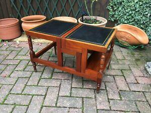 set of regency style mahogany metamorphic library steps coffee table