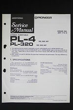 Pioneer pl-4 pl-320 WB Original Turntable Additional service-manual/Diagram o117