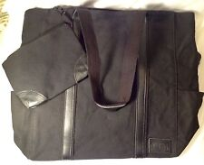 LARGE Laptop Bag Canvas Business Work Office School Tote Women with BONUS PURSE