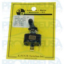 Triple Sealed ON-OFF Toggle Switch 20 Amp Single Pole Race Car Switch Panel