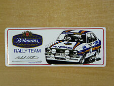 Rothmans Rally Team (Malcolm Wilson) Motorsport Sticker Decal