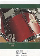VINTAGE MUSICAL INSTRUMENT CATALOG #10554 - PEARL DRUMS - PROFESSIONAL SERIES