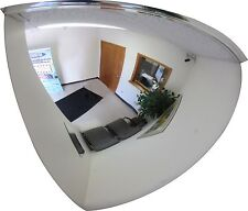 """#1 Industrial rated 36"""" Diameter Acrylic Quarter Dome Safety & Security  Mirror"""