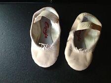 Used Capezio Child's Teknik Ballet Slippers, Pink, size 8 D, In original box.