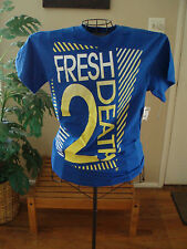 A-LAB Clothing fresh 2 Death blue tee shirt s/s size small new with tags