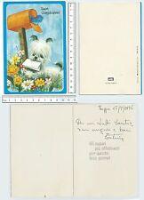 Biglietto augurale BUON COMPLEANNO - anni '70 made in Italy -  60005