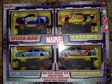 Maisto Marvel Die-cast Model Kit: Spider-man, Cyclops, Mr. Fantastic & Iron Man