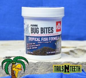 Fluval Bug Bites Tropical Fish Formula M-L 45g - 1.4-2.0mm Sinking Granules