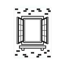 "Darice Embossing Folder 4 1/4""x5 3/4"" - WINDOW SHUTTER - 1219-409"