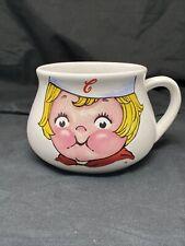 VINTAGE  CAMPBELL SOUP LARGE SQUAT CHINA MUG COMICAL LITTLE BLONDE GIRL c1998