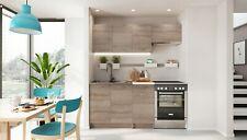 NEU Küche Küchenzeile MELA 120 / 180 CM Eiche Trüffel mit Arbeitsplatte