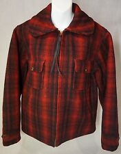 Vintage 40's Woolrich Hunting Jacket, Buffalo Plaid size 38, Beautiful Condition