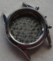 Chronograph mens wristwatch nickel chromiun case 33,5 mm. in diameter
