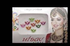Bindi bijoux de peau papillon multicolore bollywood multicolore 43