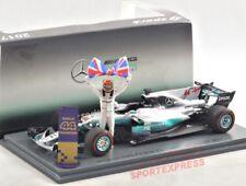 NEUF 1/43 Spark s5054 MERCEDES AMG W08,Mexico GP 2017 Champion du monde Hamilton