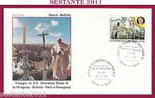 W468 VATICANO FDC ROMA GIOVANNI PAOLO II WOJITYLA VISITA SUCRE BOLIVIA 1988
