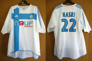 Maillot Olympique Marseille shirt 2004 Nasri #22 OM Neuf Telecom Vintage - XXL