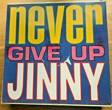 """💿 VINTAGE VINYL Record Collector  """"NEVER GIVE UP"""" by JINNY Music,Album,Single"""