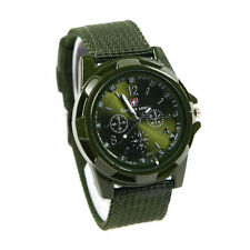 CAMOUFLAGE Men fabric Sport Quartz Military ARMY Watch Swiss flag Gemius GREEN f