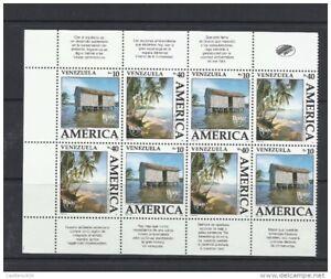 O) 1990 VENEZUELA, AMERICA UPAEP, ARCHITECTURE -PALAFITO - PILE DWELLING, TREE,