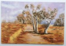 Unsigned Australian School Oil Painting On Board