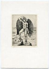 Antique Print-NUDE ICARUS-Cor de Bie-20 th.c.